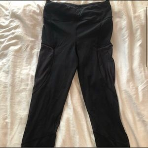 Barely Worn Lulu Leggings with Mesh Sides